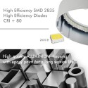 LED ceiling light Square surface white 20W 120º- IP20- Indoor
