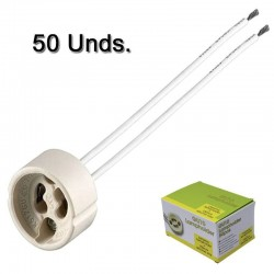 Box Pack 50 units GU10 Lamp holder