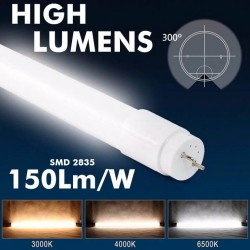 18W LED  MAX Tube Glass  300º   120cm - 130Lm/W