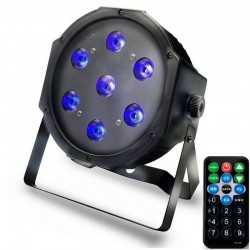 Foco PAR LED 28W DMX Light UV - Ultravioleta - com controle remoto