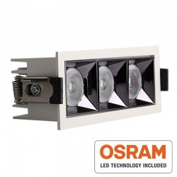 Empotrable LED 15W OSRAM Chip PALACE 24º UGR17 140lm/W