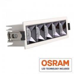Empotrable LED 25W OSRAM Chip PALACE 24º UGR17 140lm/W