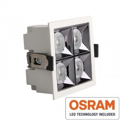 Empotrable LED 20W OSRAM Chip PALACE 24º UGR17 140lm/W