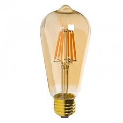 Bombilla LED Filamento Vintage 7W E27 Gold ST64 Dimmable