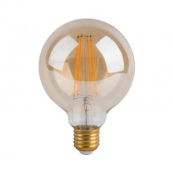 6W LED Bulbs Filament Vintage E27 G80 Gold
