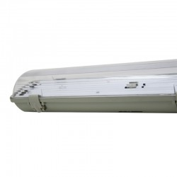 Waterproof screen for two LED tubes IP65  120cm