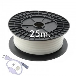 Neon LED CIRCULAR Flexível 220V Bobina 25m 16mm - 9,6W/m