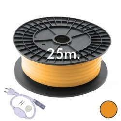 Neón LED CIRCULAR Flexivel 220V Bobina  25m 16mm  - 9,6W/m - Laranja