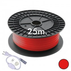 25m ROUND Neon LED Flexible 220V 16mm - 9,6W/m - Red
