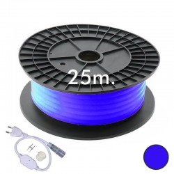 Neon LED CIRCULAR Flexível 220V Bobina 25m 16mm - 9,6W/m - Azul
