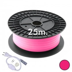 Neon LED CIRCULAR Flexível 220V Bobina 25m 16mm - 9,6W/m - Rosa