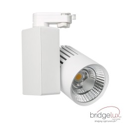 LED Tracklight 40W GRAZ White BRIDGELUX Chip  single-phase rails - CRI +90