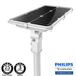 Solcelle LED gadebelysning 75W PROFESSIONAL - ALL IN ONE - bevægelsessensor 170lm / W