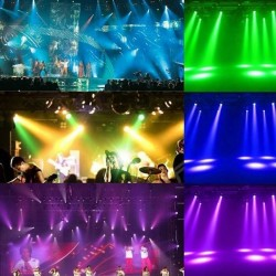 Mobile LED Spot 30w BOSTON Blanc + 7 Couleurs - 7 Gobos Fixes - DMX
