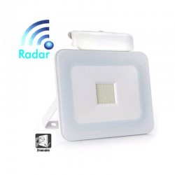 LED Outdoor Floodlight 20W LED Luxury RADAR White