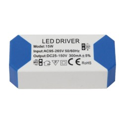 Driver for LED luminaires 15W 300mA