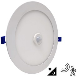 Placa LED Circular  20W con Detector de  Movimiento