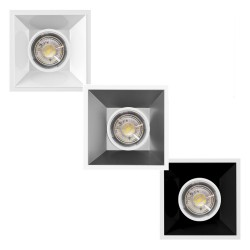 Aro quadrato per LED dicroico GU10 MR16 -
