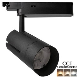 LED Tracklight 30W VIENA Black single-phase rails  CRI +90