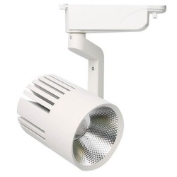 LED Tracklight 40W PISA  White  Single-phase rails  35º