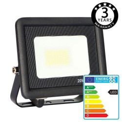Foco Proyector Exterior Negro LED 20W ACTION IP65