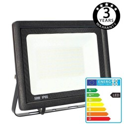 50W LED Outdoor Floodlight Black  ACTION IP65