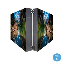 LED screen commercial display Pixel 6 RGB Full Color 2 faces  57x57cm