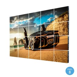 Painel LED RGB Full Color Interior Pixel 8 SERIE FIJI  18,43m2 -(20 módulos +Control)