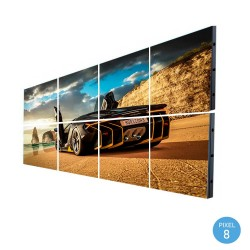 Painel LED RGB Full Color Interior Pixel 8 SERIE FIJI  2,45m2 -(8 módulos +Control)
