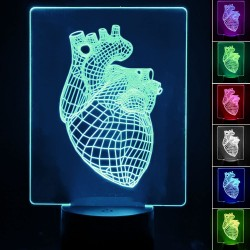 Table lamp - 3D RGB - HEART -
