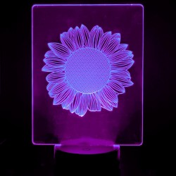Table lamp - 3D RGB - SUNFLOWER -