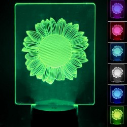 3D RGB bordlampe - SUNFLOWER -