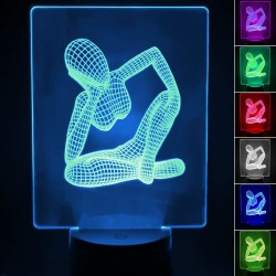 3D RGB bordlampe - WOMAN -