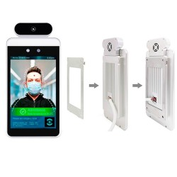 Access control module with facial recognition and Goodview wall temperature measurement