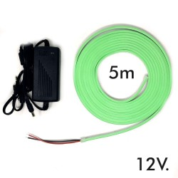 Pack striscia Neon Blu LED 6mm 12V + Alimentatore
