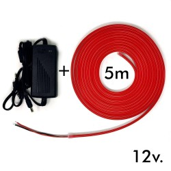 Pack LED Red Neon LED 6mm 12V +  Power supply