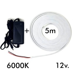 Pack LED  Neon LED 6mm 12V +  Power supply
