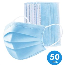 Pack 50 Surgical Masks - 3 Layers with Central MELT BLOWN