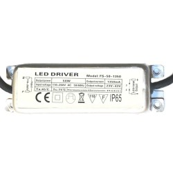 Driver for LED luminaire 50W 1350mA  - IP65