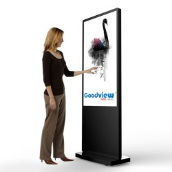 "Totem Interactive Advertising Poster LCD Full HD -GoodView 55 ""- Brug 24 timer."