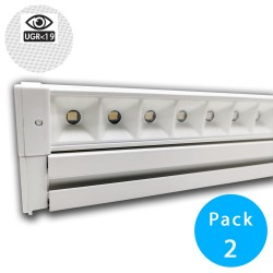 28W Turner Linear Bar  LED - HALLE DYNAMICS - UGR19 - for Technical Ceilings - Pack 2 units