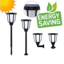 Solar LED Torch Wall Light  with spike - Flame Effect