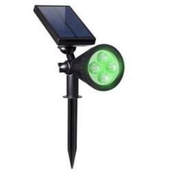 Solar LED Green light  with spike