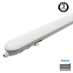 Regua Estanca LED  integrado 40W PHILIPS CERTA DRIVER 120cm