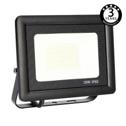 Foco Proyector Exterior Negro LED 30W ACTION IP65