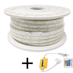 Fita de LED 10W Regulável 220V AC SMD 5050 60 LED/m RGBIP65 - 12mm