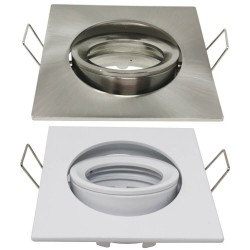 Fyrkantig justerbar ring för dikroisk LED GU10 MR16 - 84mm - Aluminium