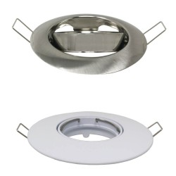 Justerbar rund ring til GU10 MR16 LED dikroisk - Ø105mm - Aluminium