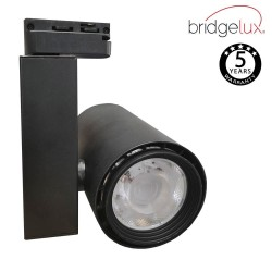 LED Tracklight 40W BERLIN Black single-phase rails  CRI +90 UGR17
