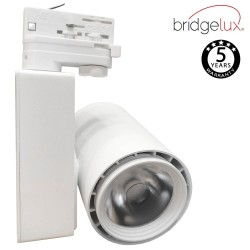 LED Tracklight 40W BERLIN White  24º single-phase rails  CRI +90